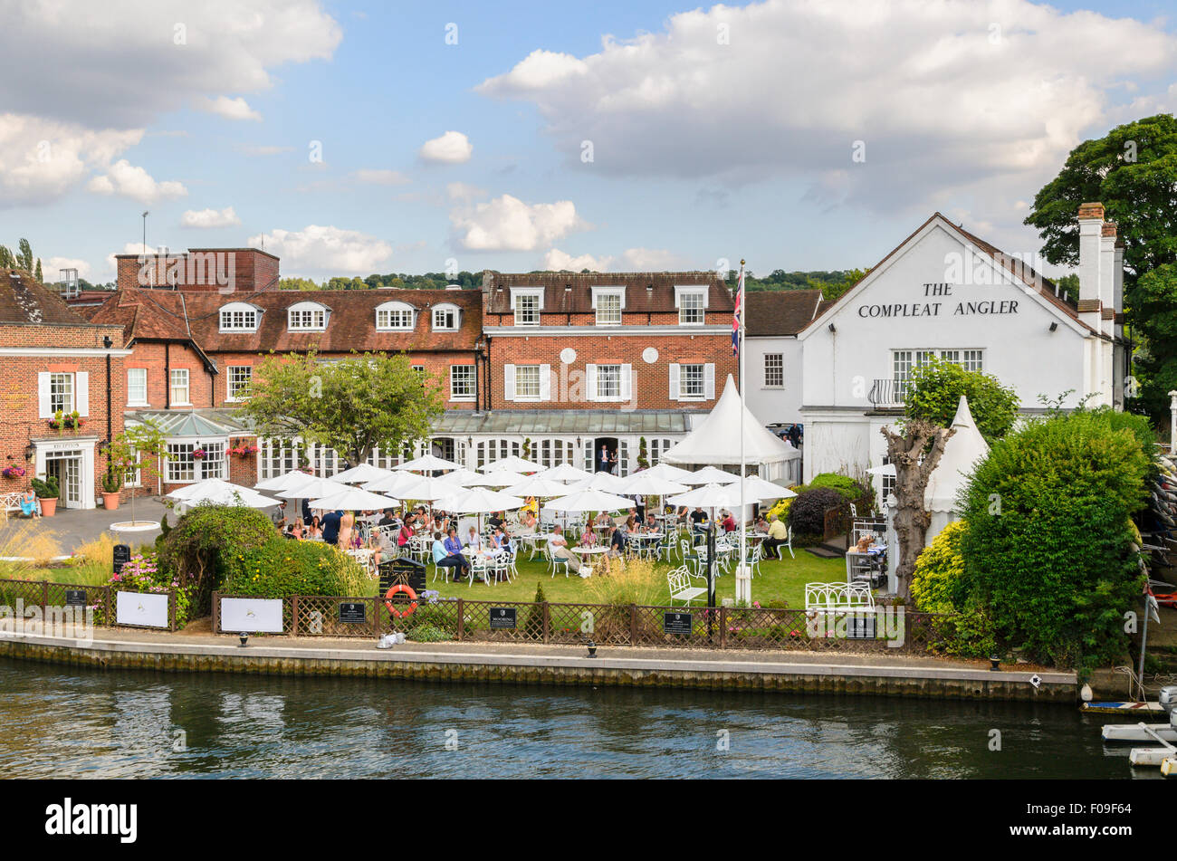 The Compleat Angler Restaurant by the River Thames, Marlow, Buckinghamshire, England, UK. - Stock Image