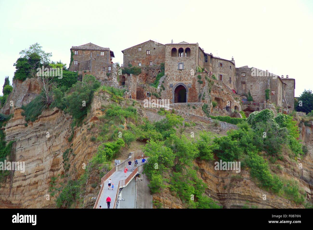 View of the village of Civita di Bagnoregio, Italy Stock Photo ...