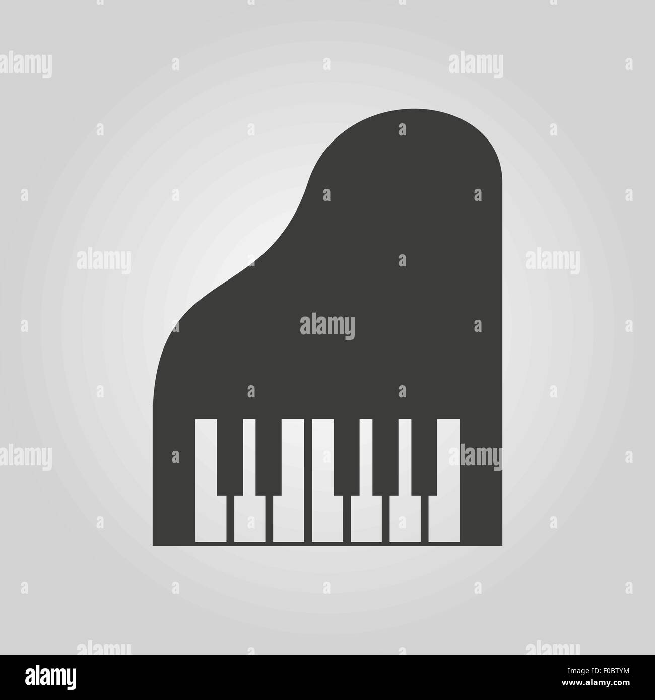 The Piano Icon Music And Pianist Musician Synthesizer Symbol