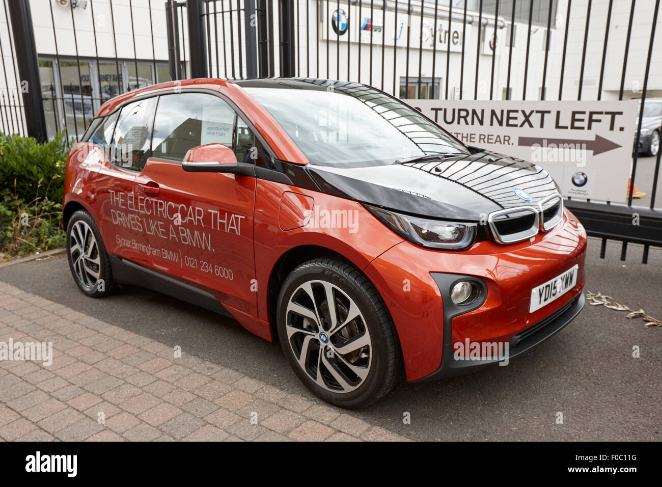 Bmw I3 Electric Car On Display At A Car Dealers Birmingham Uk Stock