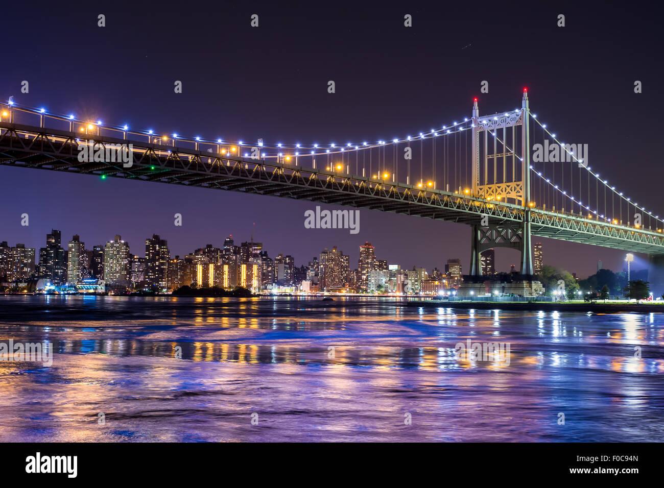 Ed Koch Queensboro bridge in New York City looking towards Manhattan - Stock Image