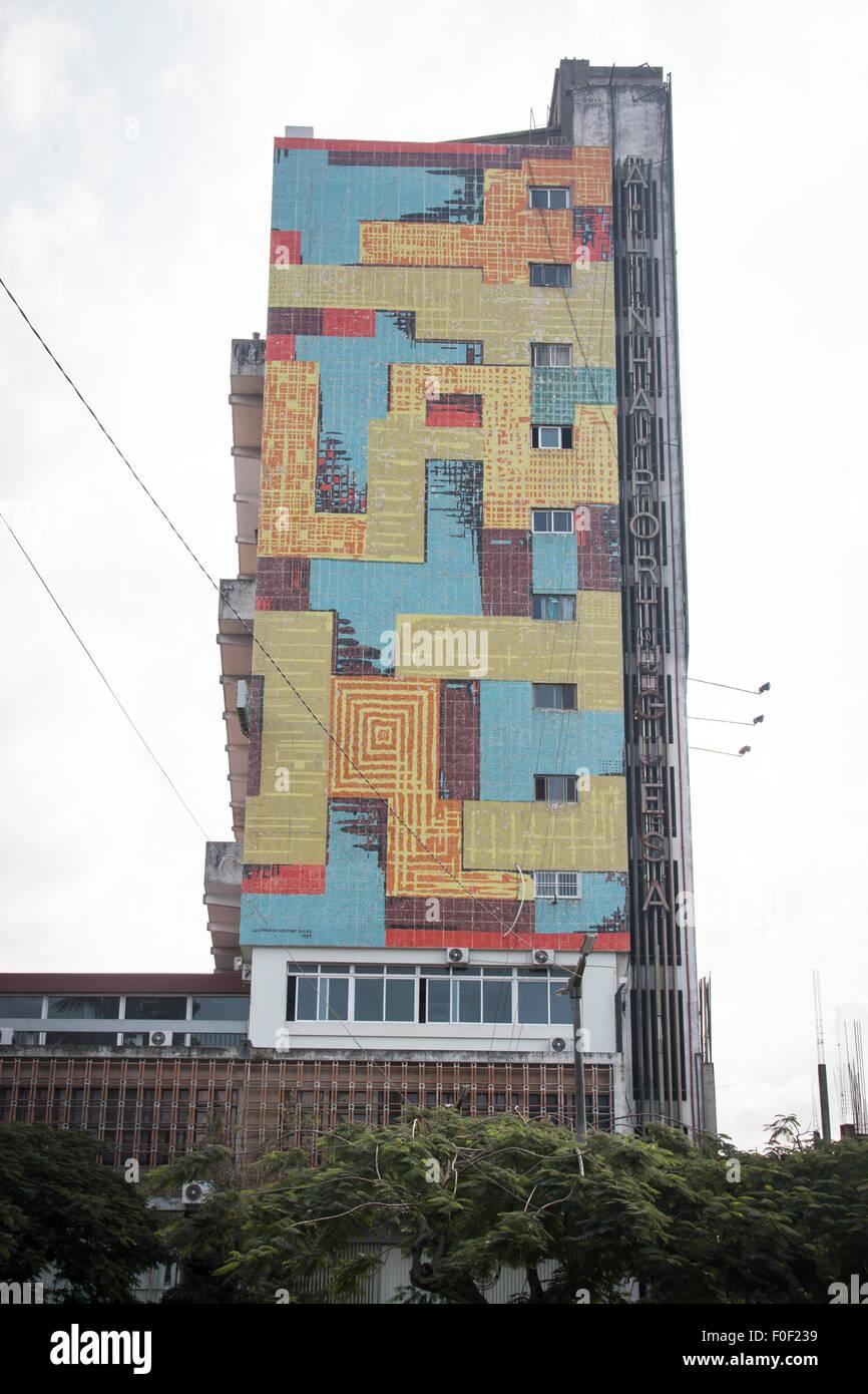 Colourful building in Maputo, Mozambique - Stock Image