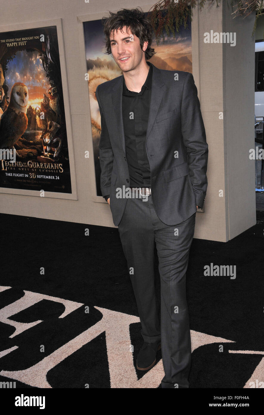 LOS ANGELES, CA - SEPTEMBER 19, 2010: Jim Sturgess at the world premiere of his new movie 'Legends of the Guardians: - Stock Image