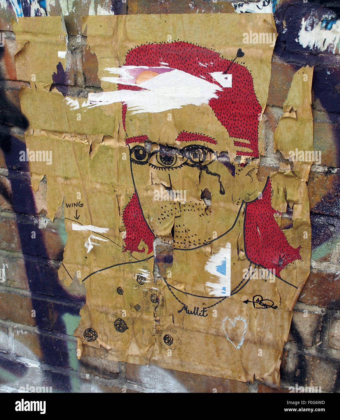 Mitte,DircksenStr,Berlin,Germany,streetArt,artist,of,the,streetsmixedmedia,mixed,media,poster,paper,wall,walls,city,cities,urban,hipster,controversial,paste,up,pasteup,Man,with,three,eyes,red,hair,GoTonySmith,Buy Pictures of,Buy Images Of