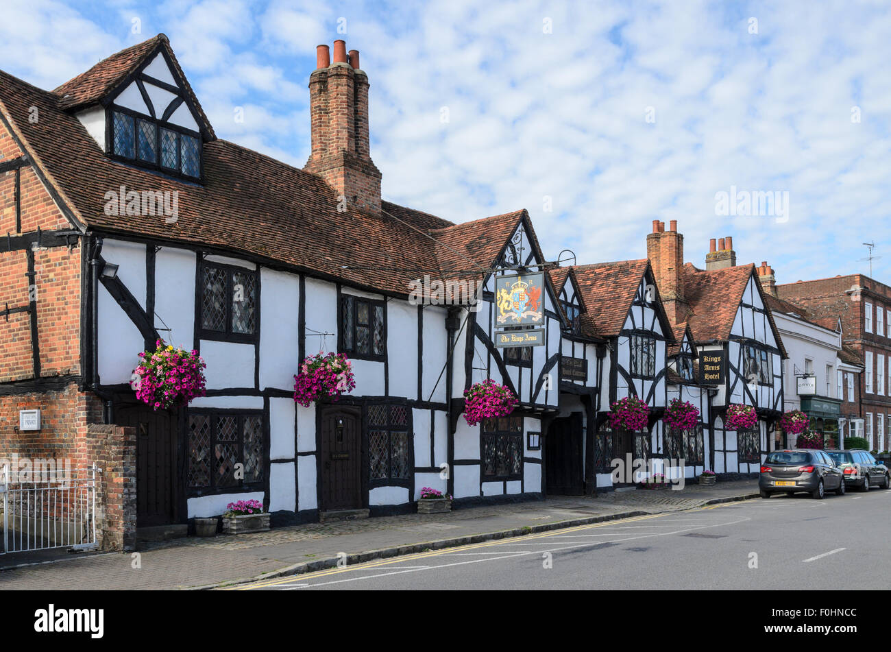 The Kings Arms Hotel in Old Amersham has featured in many TV programmes and Movies including Midsomer Murders and - Stock Image