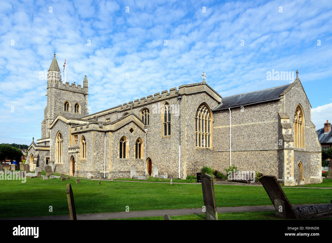 St Marys Parish Church, Old Amersham, Buckinghamshire, England UK. - Stock Image