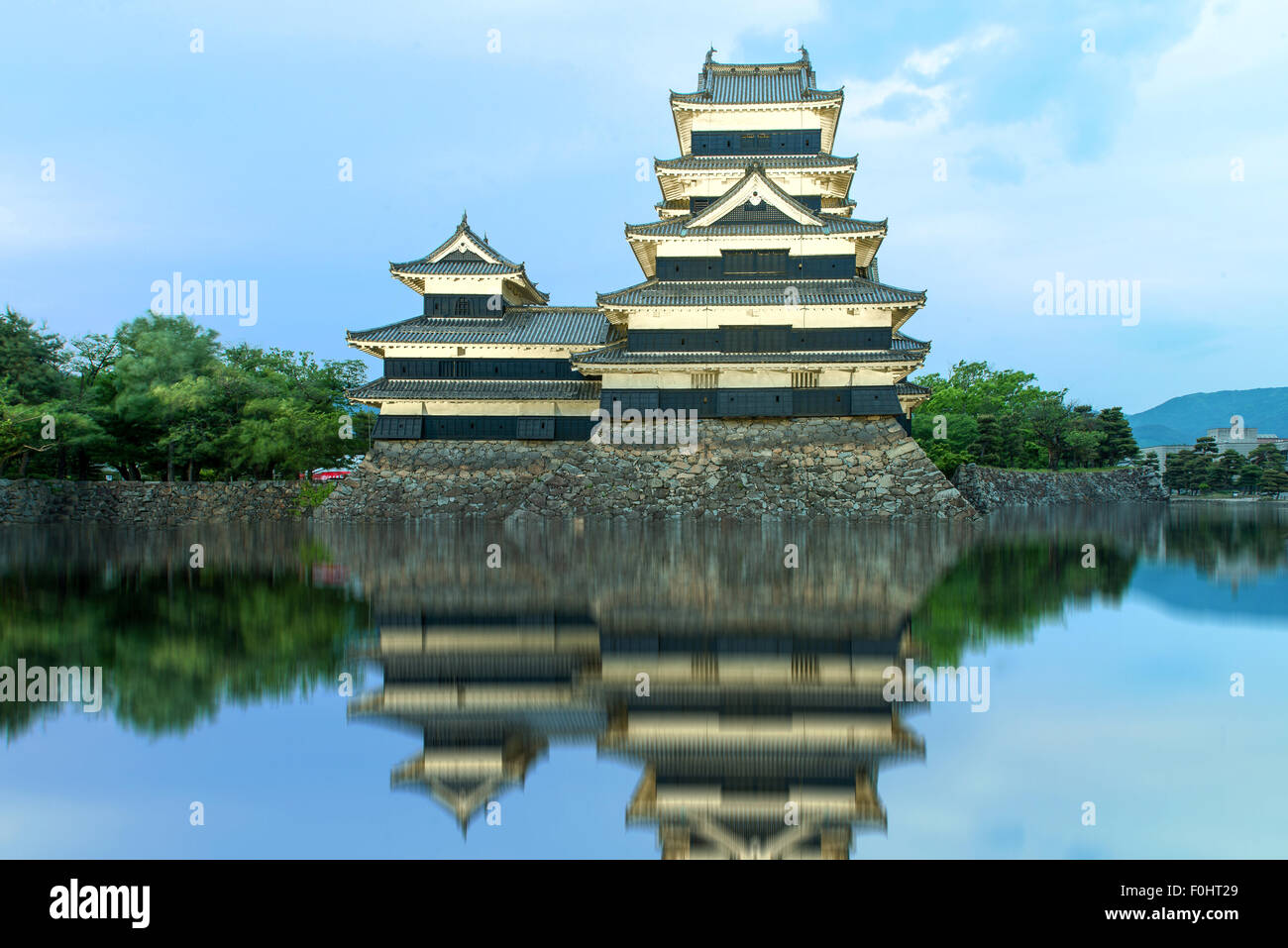 Matsumoto castle in Matsumoto, Japan - Stock Image