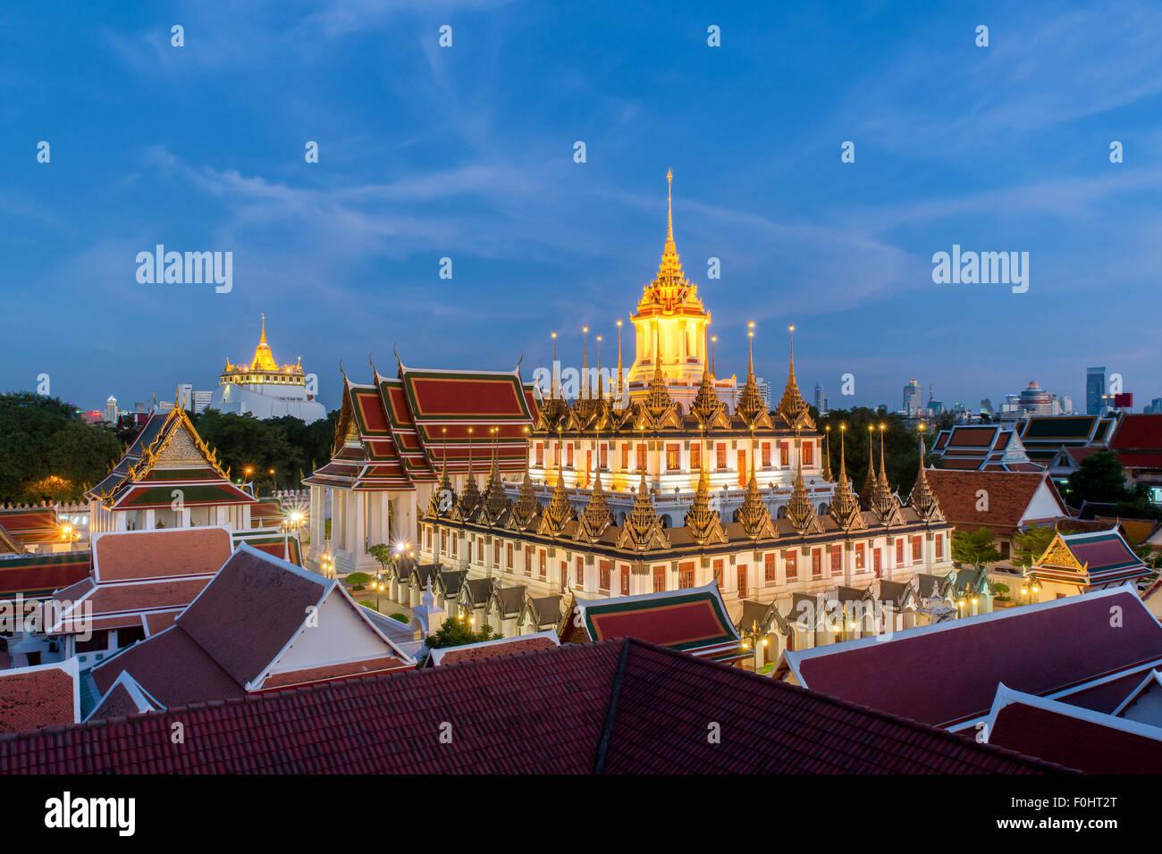 Loha Prasat at Wat Ratchanadda in Bangkok,Thailand - Stock Image