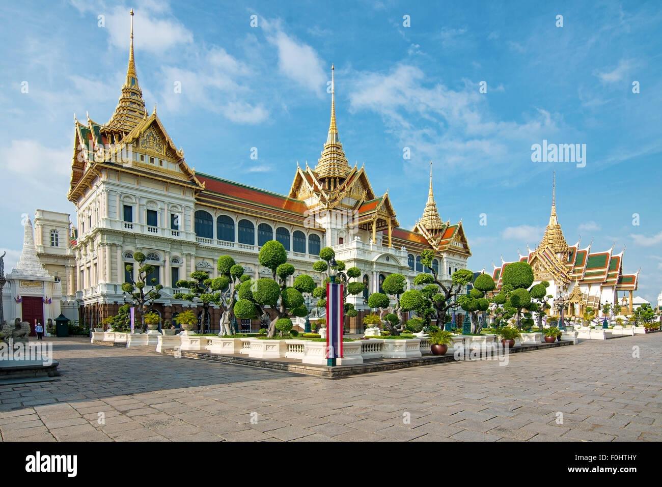 Royal grand palace in Bangkok, Asia Thailand - Stock Image
