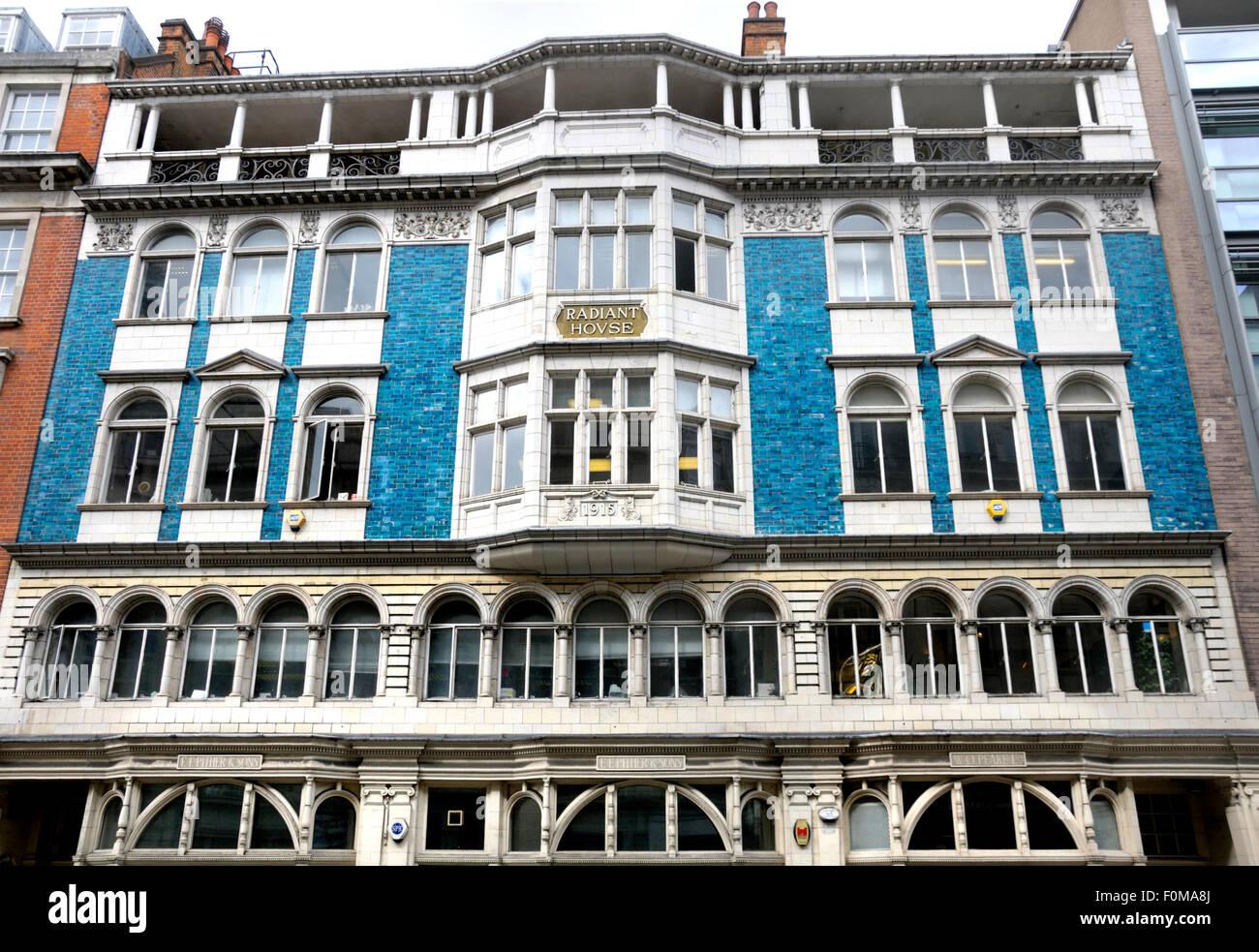 London, England, UK. Radiant House, 36-38 Mortimer Street. 1915: Designed by Francis Léon Pither - Stock Image