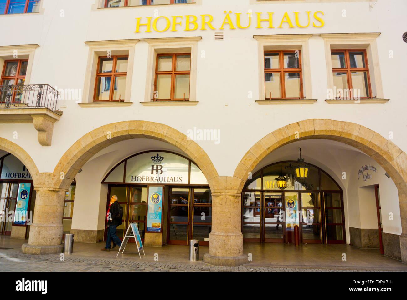 Hofbräuhaus, Famous Beer Hall Restaurant, Platzl, Altstadt, Old Town,  Munich,