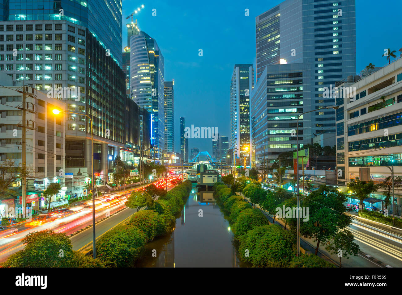 Bangkok, Thailand, Traffic in Downtown - Stock Image
