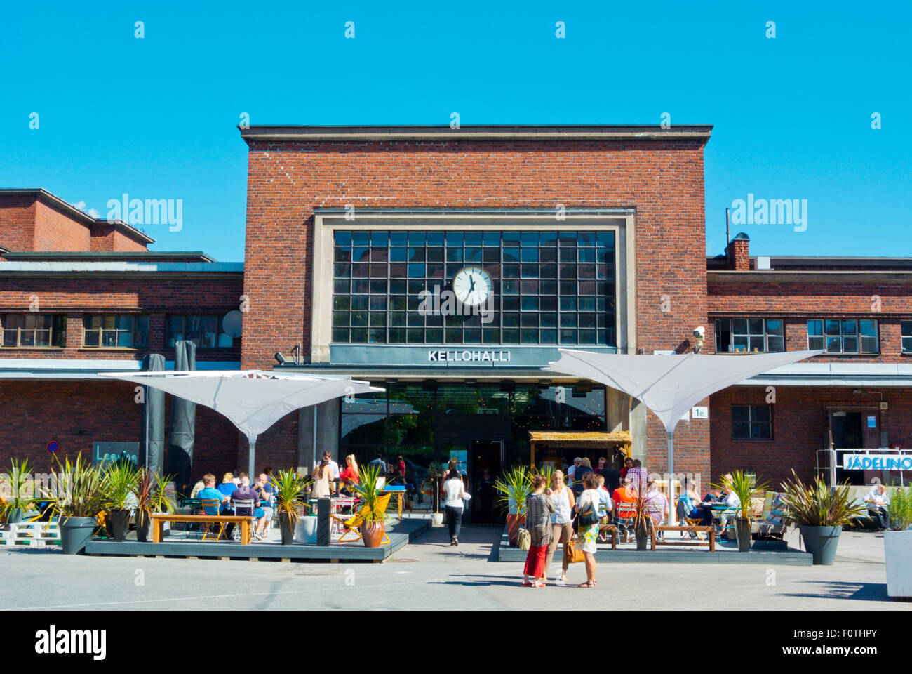 Teurastamo (1933), former abattoir now converted into restaurants and events spaces, Hermanni disttrict, Helsinki, Stock Photo