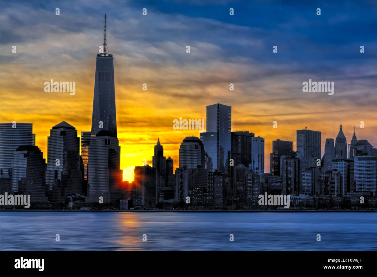 Wtc Sunrise >> Sunrise At One World Trade Center Freedom Tower In The Lower Stock