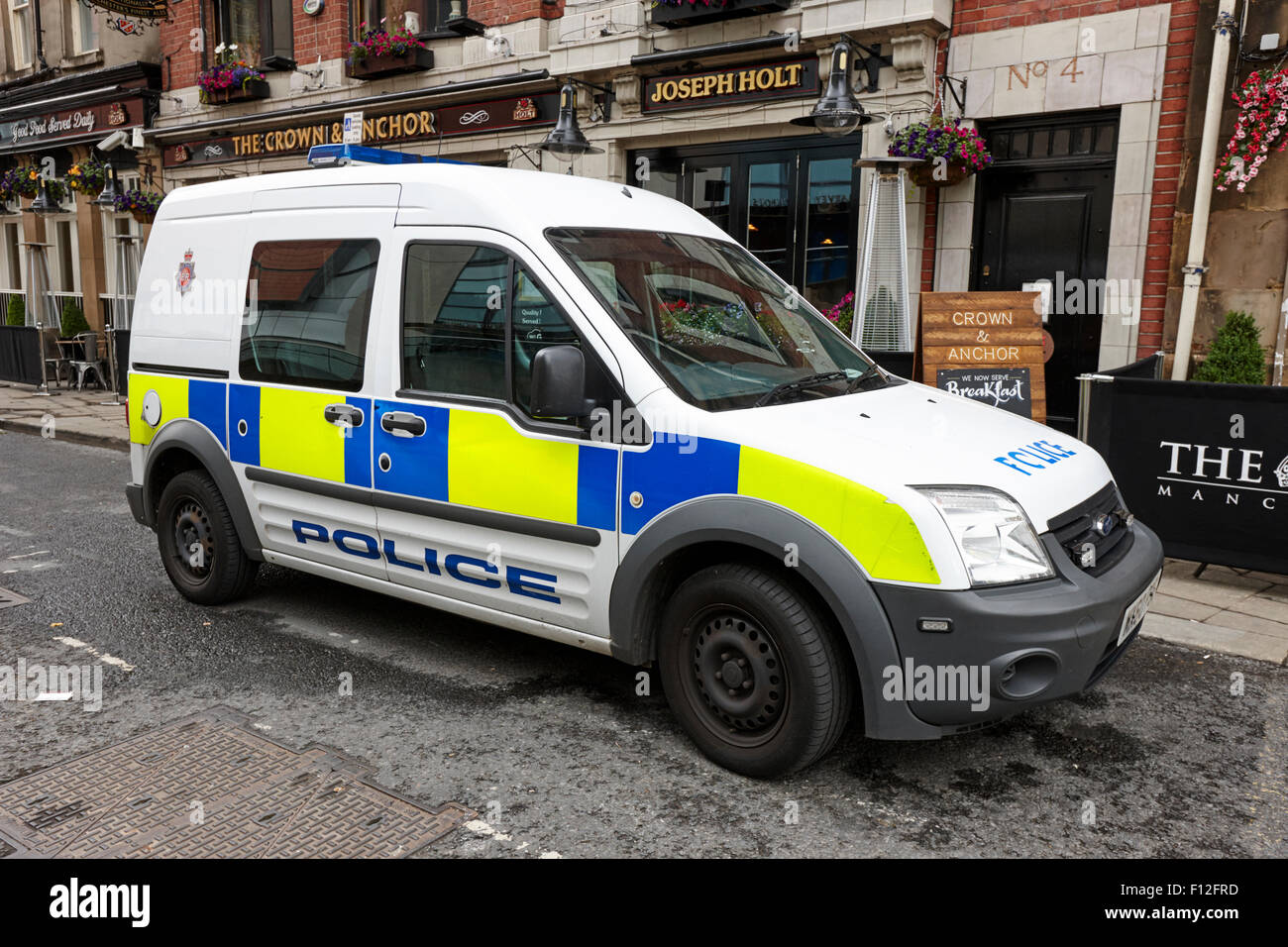 greater manchester police patrol small van ford transit connect uk stock photo 86722817 alamy. Black Bedroom Furniture Sets. Home Design Ideas