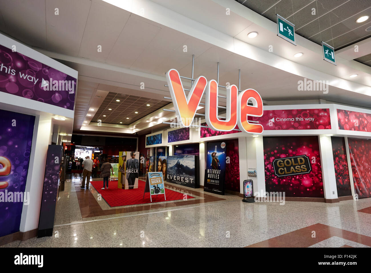 vue cinema lowry shopping mall Manchester ukStock Photo
