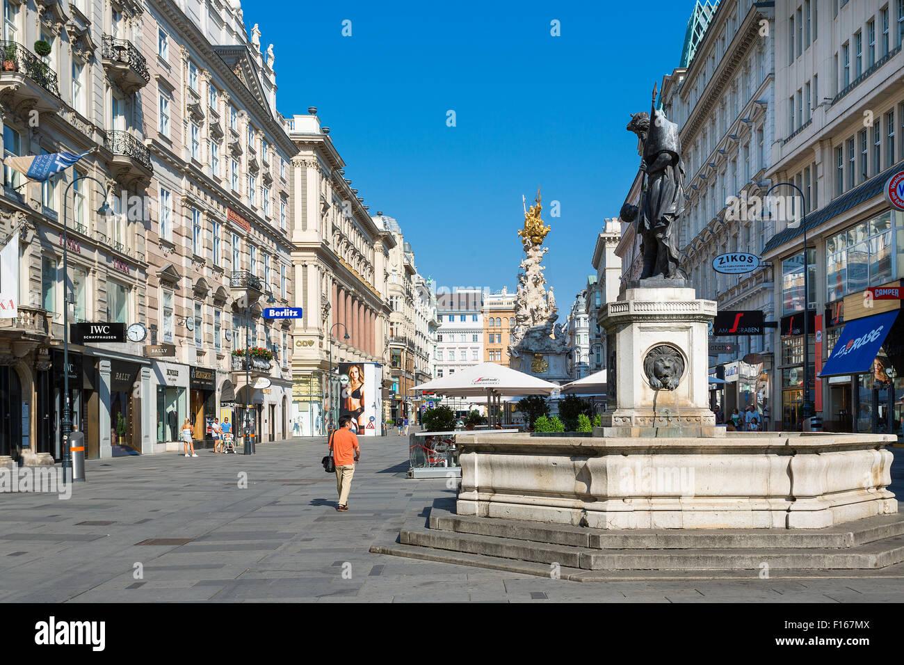 Graben Street, Vienna, Austria Stock Photo