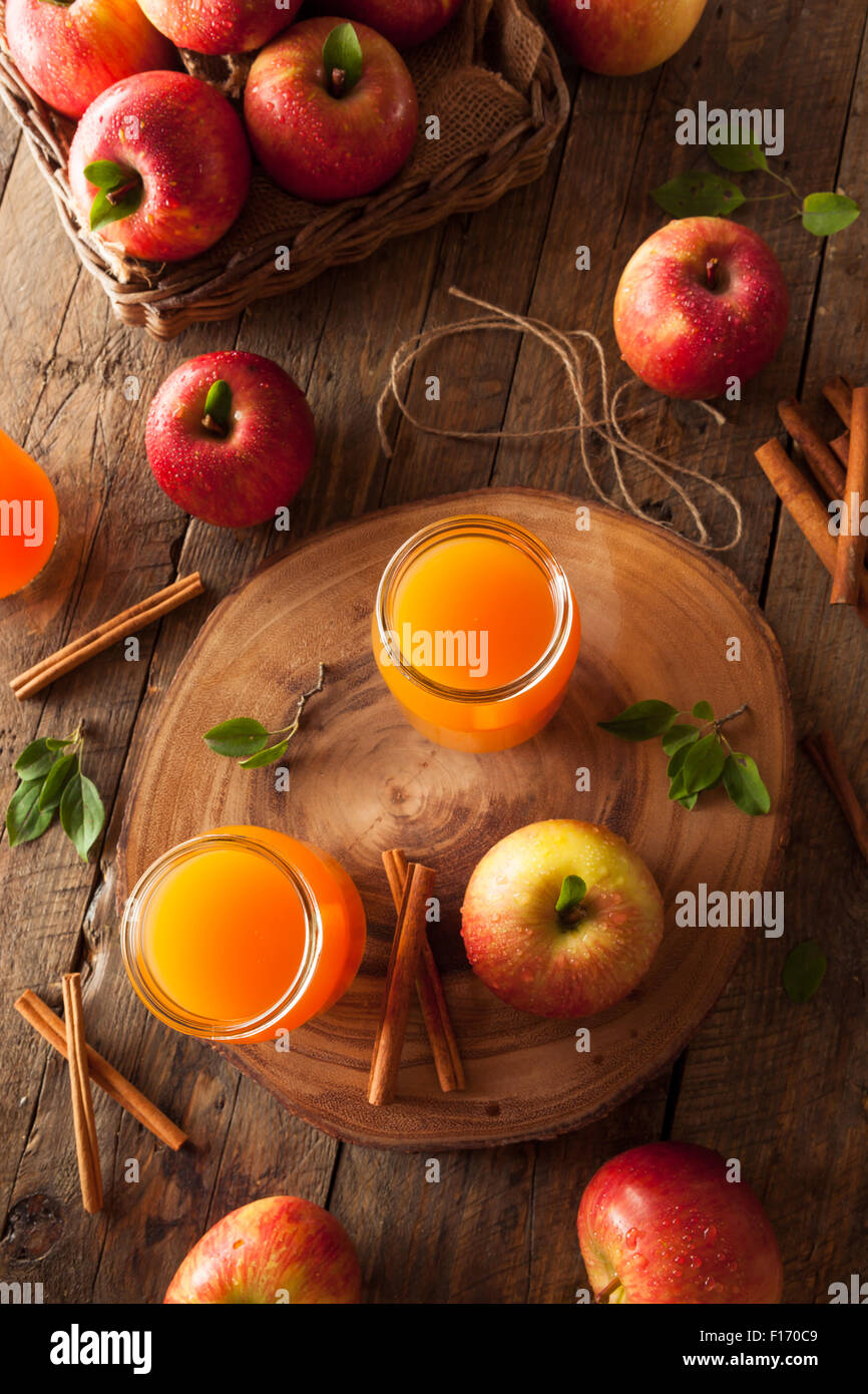 Organic Orange Apple Cider with Cinnamon and Spices - Stock Image