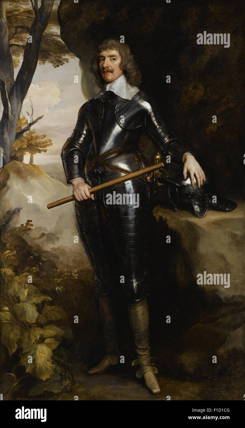 Anthony Van Dyck - Portrait of William, 1st Baron and Earl of Craven (1608 1697), wearing Armour and holding a Baton - Stock Image