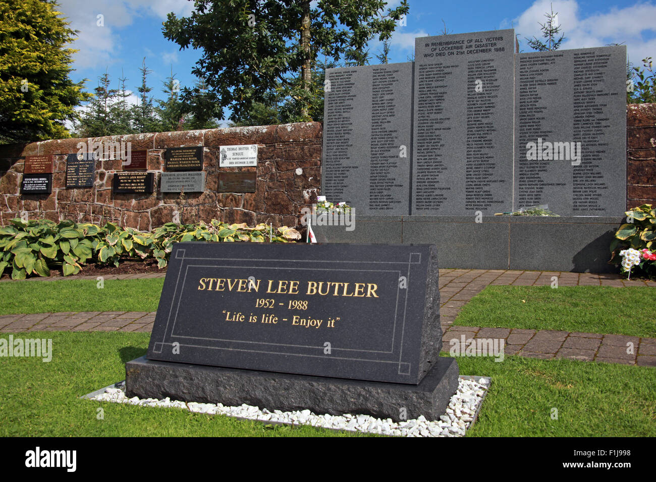 Lee Butler - Life Is Life Enjoy It,Scotland,Lodge,Visitors,Centre,DLVC,Trust,Lockerbie,Memorial,Remembrance,Scotland,Victims,Pan,Am,PanAm,flight,103,bomb,bombing,terrorist,December,1988,attack,crash,dead,site,21/12/1988,270,victims,Scottish,Town,conspiracy,blast,Tundergarth,Room,garden,of,New York,GoTonySmith,Lodge,Visitors,Centre,DLVC,Trust,Lockerbie,Memorial,Scotland,Victims,Pan,Am,PanAm,flight,103,bomb,bombing,terrorist,December,1988,attack,crash,dead,site,21/12/1988,270,victims,Scottish,Town,conspiracy,blast,Tundergarth,Room,garden,of,Dryfesdale,Cemetery,news,Cultural,understanding,remembering,innocent,transatlantic,Frankfurt,Detroit,Libyan,Libya,Colonel Muammar Gaddafi,civil,case,compensation,terrorism,PA103,30,30years,years,Syracuse,University,SU,family,collections,Story,Archive,Archives,40,35,Timeline,saga,disaster,air,Scholars,program,programs,remembrance,Clipper Maid of the Seas,N739PA,Boeing,727,plane,aircraft,Scotland,UK,United Kingdom,GB,Great Britain,resting,place,Buy Pictures of,Buy Images Of,New York,al megrahi,30 Years