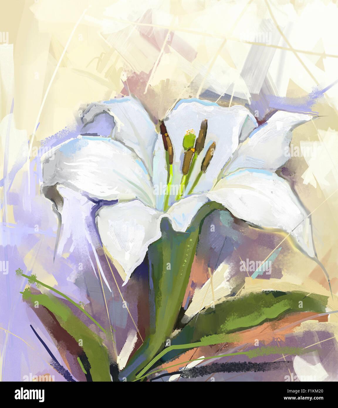 Oil painting white lily flowerflower oil painting stock photo oil painting white lily flowerflower oil painting izmirmasajfo