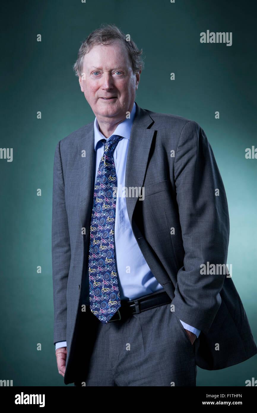 Ferdinand Mount, is a British writer and novelist, at the Edinburgh International Book Festival 2015. Edinburgh, - Stock Image