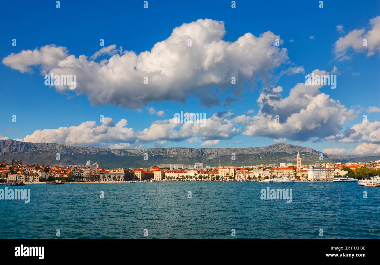 Skyline of Split, Dalmatia, Croatia. - Stock Image