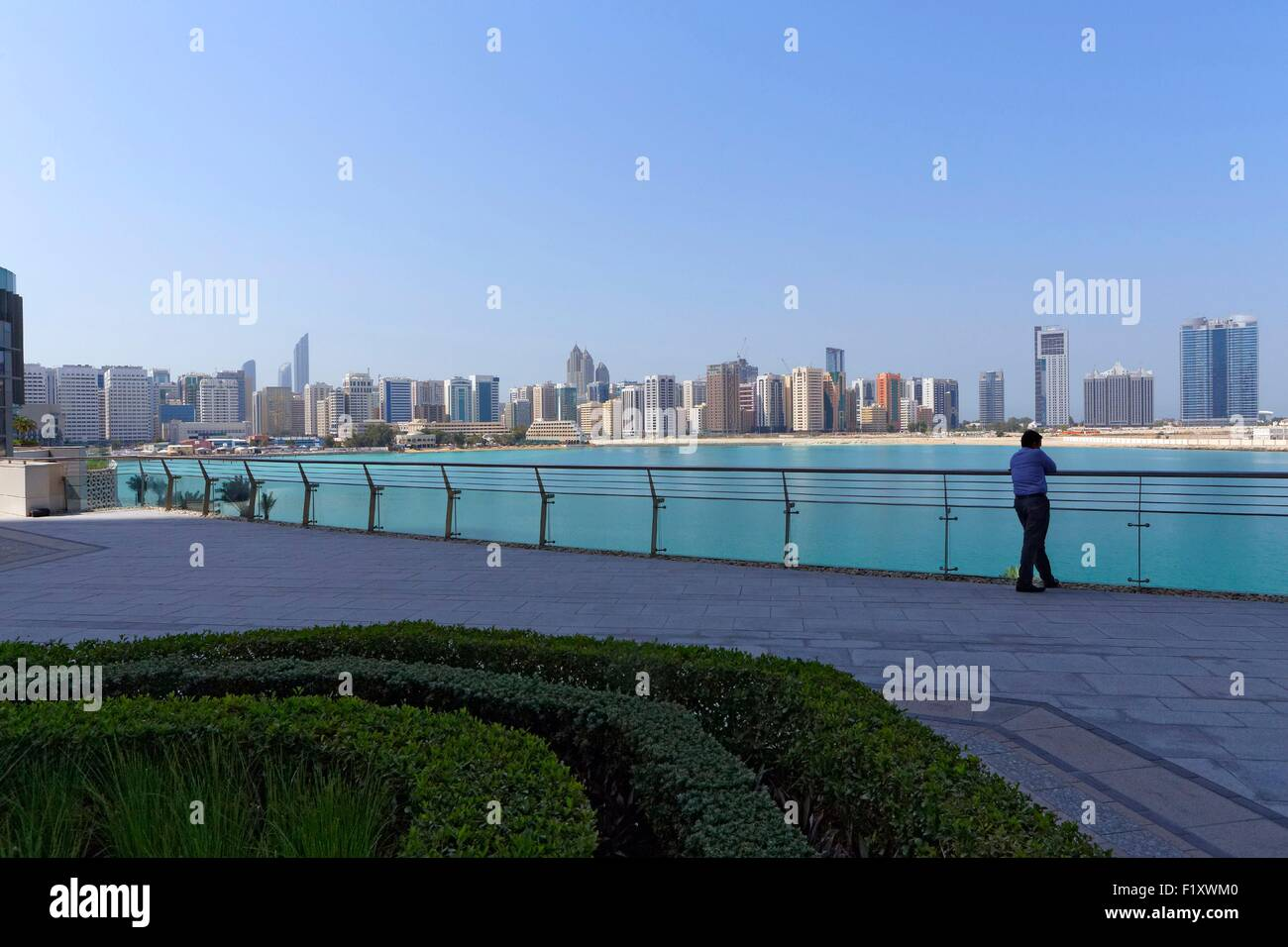 United Arab Emirates, Abu Dhabi, view from the new district of Al Maryah Island - Stock Image