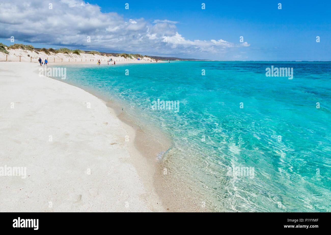 Australia, Western Australia, Gascoyne, Exmouth, Ningaloo Marine Park, Turquoise Bay at Ningaloo Reef Stock Photo