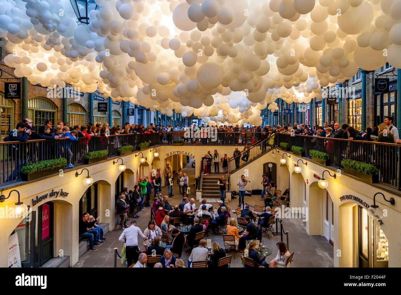 Shops and Restaurants, Covent Garden, London, England Stock Photo ...