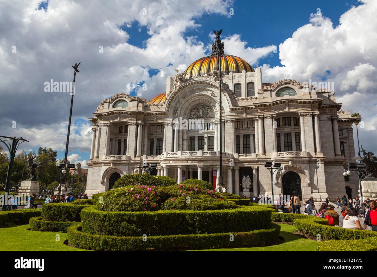 Palacio de Bellas Artes art museum and opera house Mexico City Federal District DF North America - Stock Image