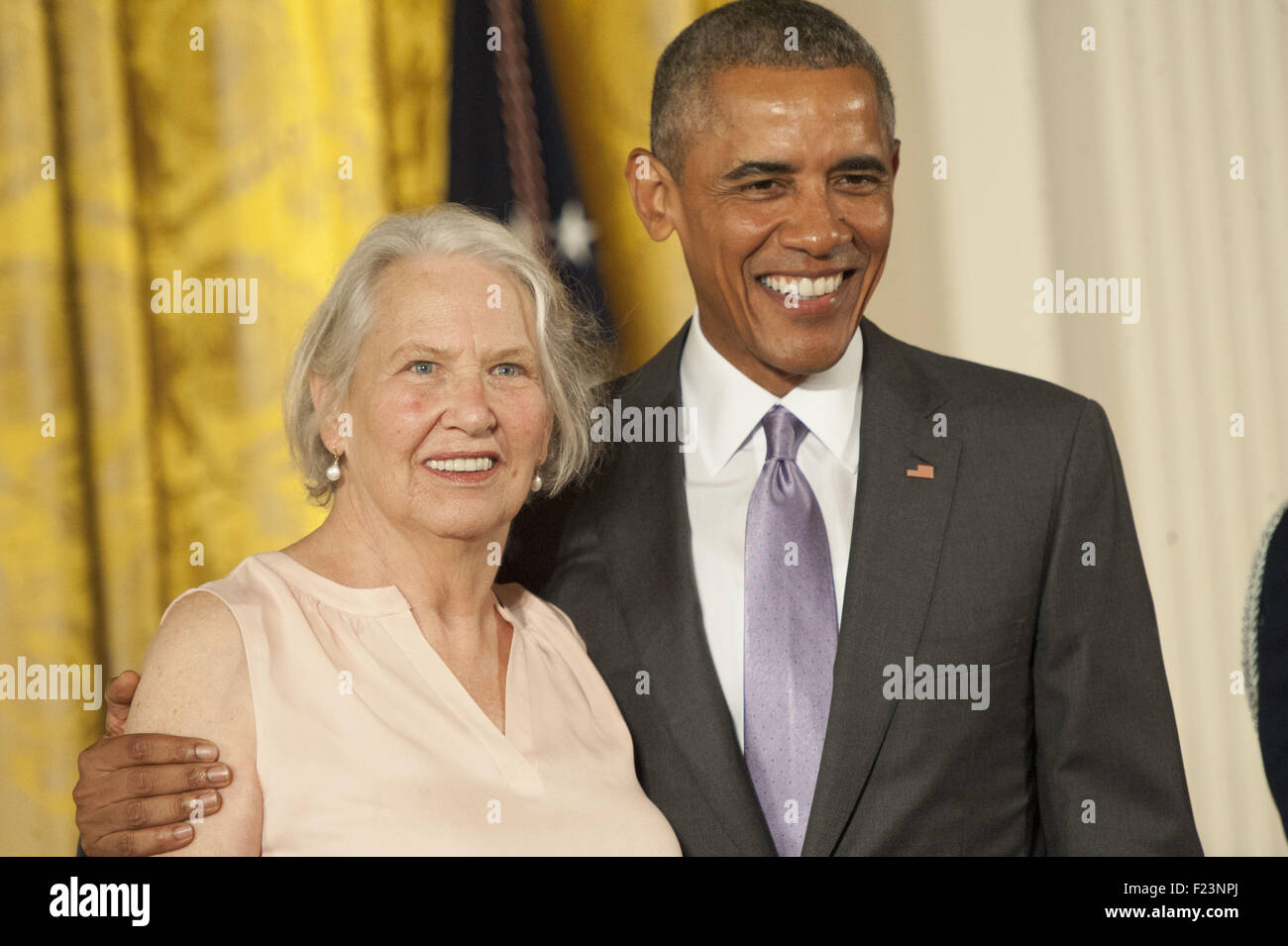 Washington, District Of Columbia, USA. 10th Sep, 2015. ANNIE DILLARD, The 2014 National Humanities Medal to Annie Stock Photo