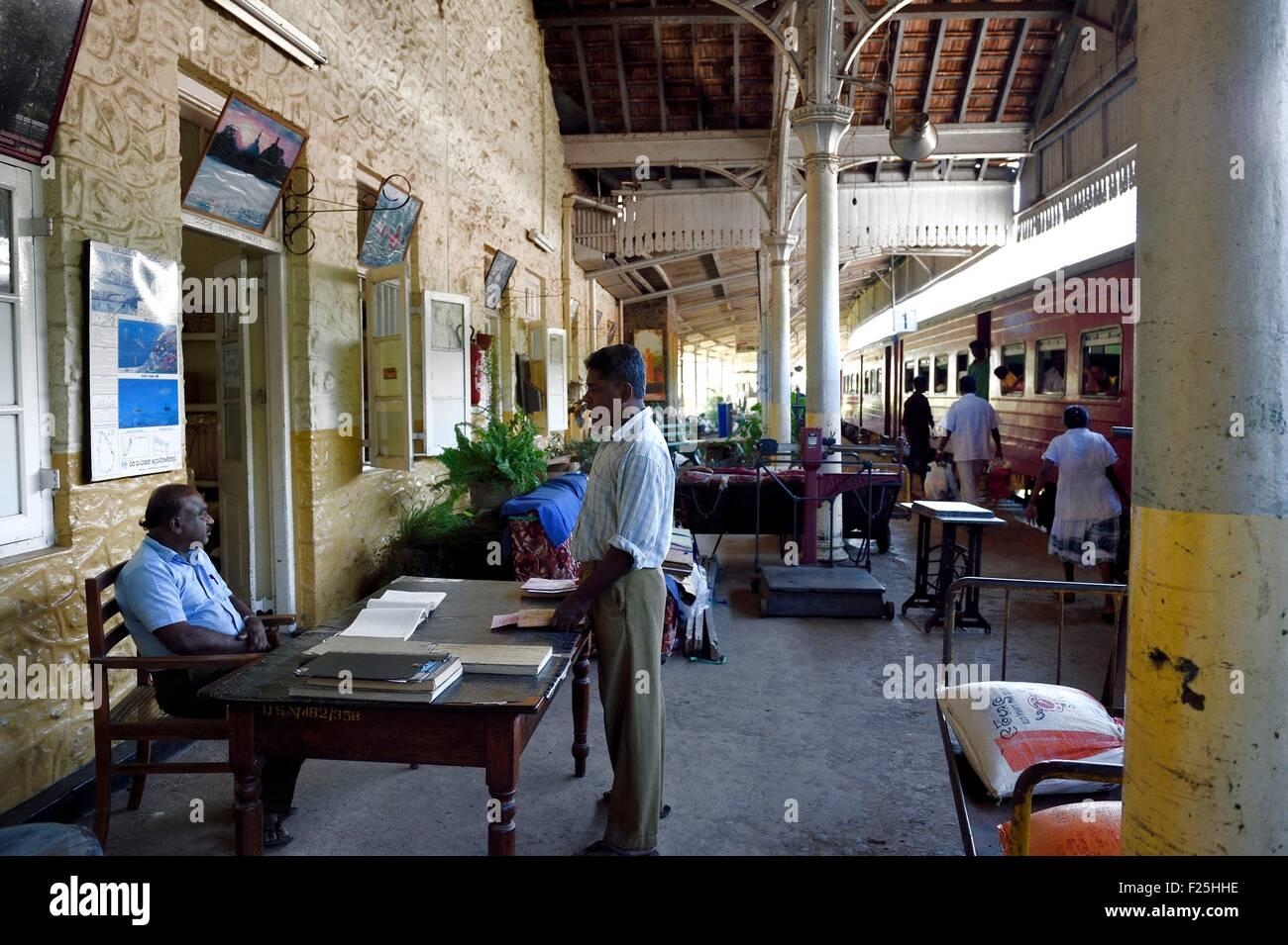 Sri Lanka, Uva Province, Badulla train station - Stock Image