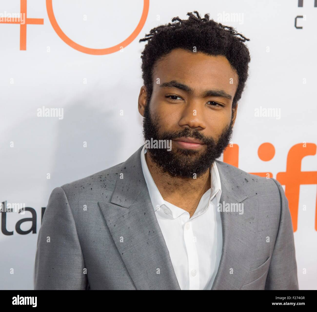 Actor Donald Glover attends the world premiere for The Martian at the Toronto International Film Festival at the - Stock Image