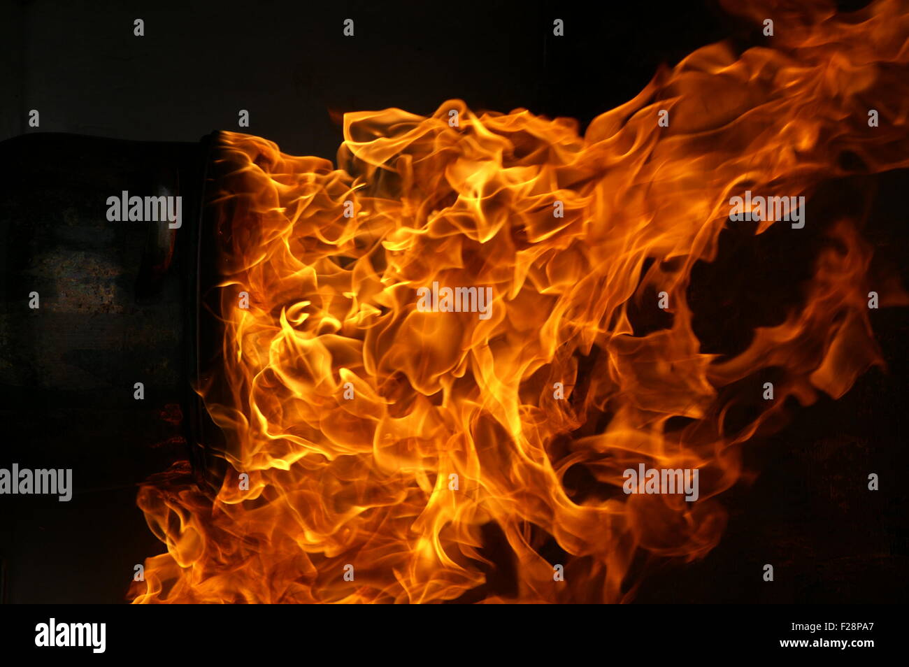 explosion, fire and flames - Stock Image