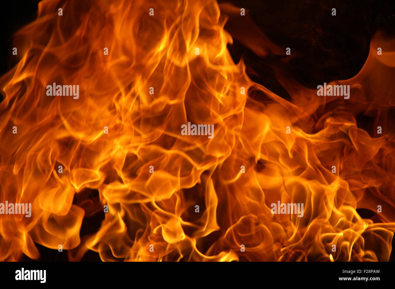 gas explosion and fire - Stock Image