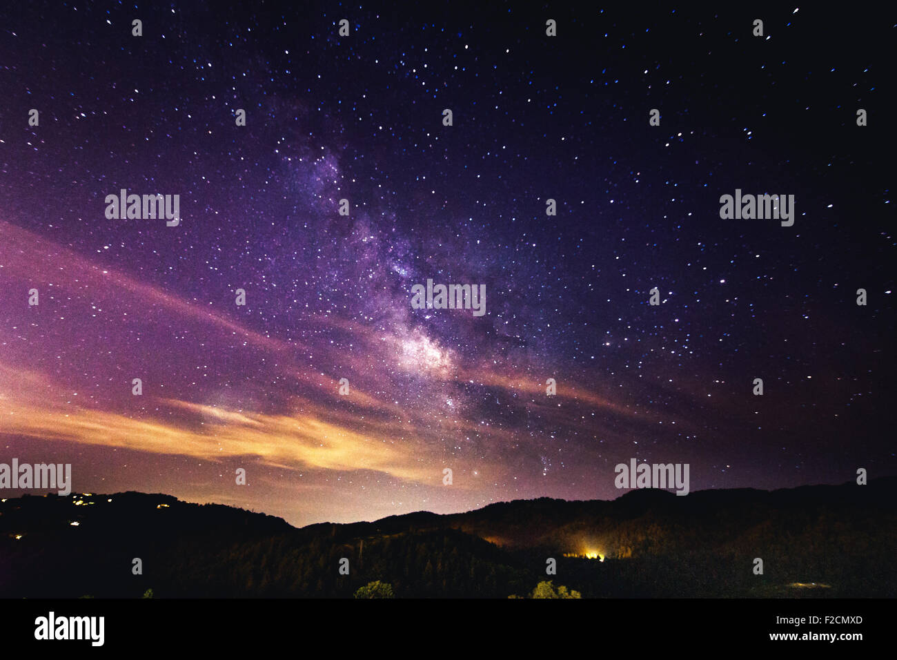 The night sky - stars and Milky Way - Stock Image