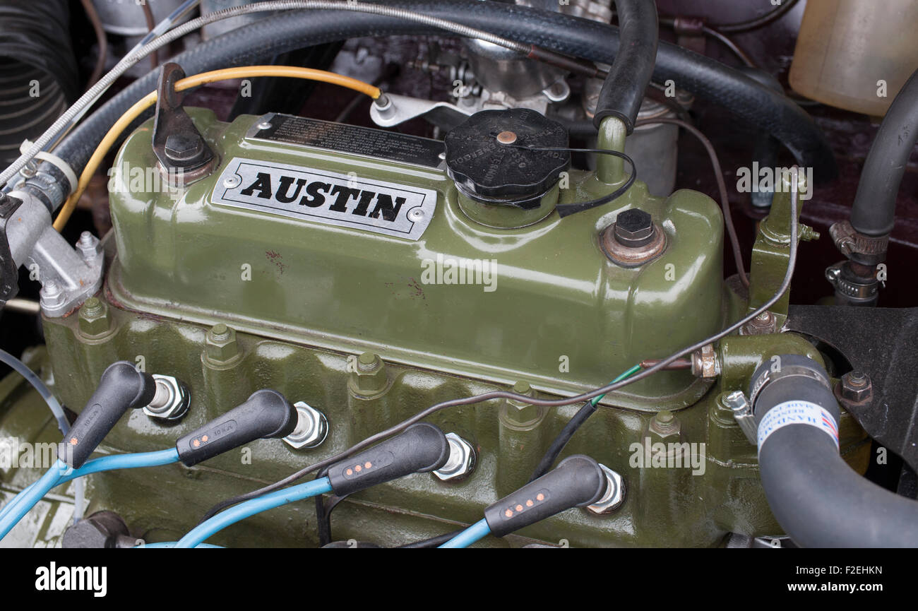 Classic BMC Austin Mini A-series Engine - Stock Image