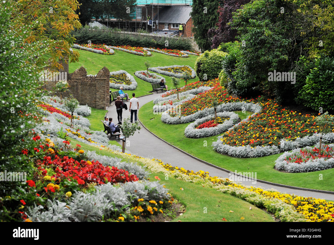 Guildford Surrey UK   Alice In Wonderland Themed Gardens In The Castle  Grounds Design Ideas