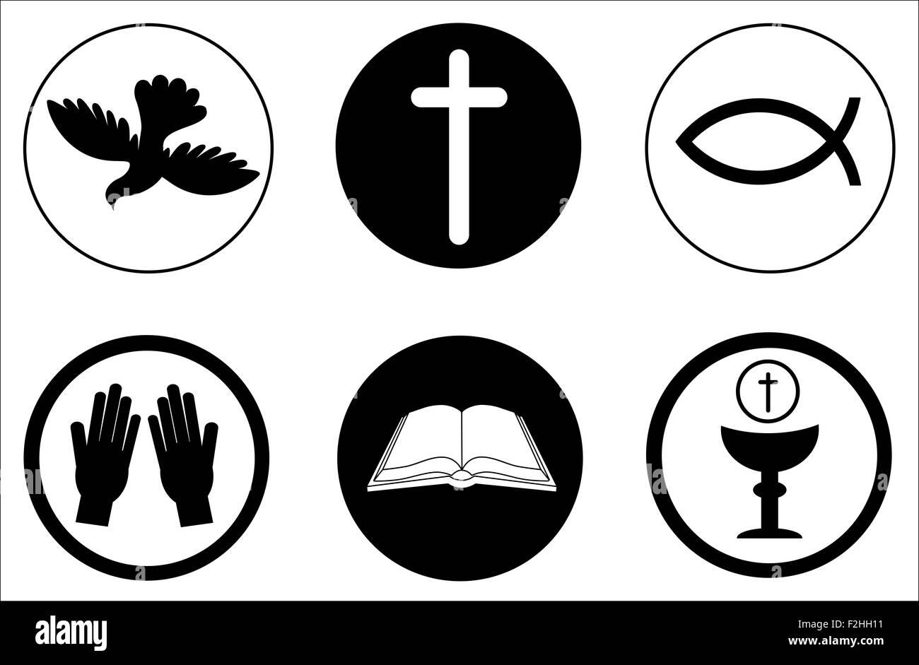 christianity icons and symbols stock photo 87667693 alamy