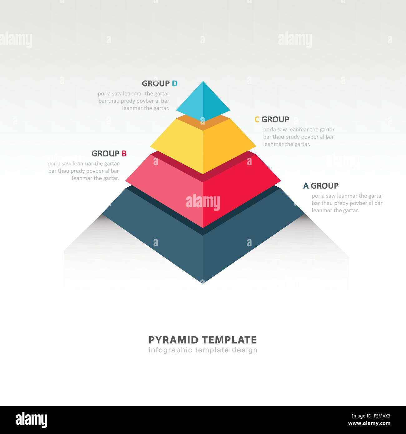 pyramid infographic template Stock Vector Art & Illustration, Vector ...