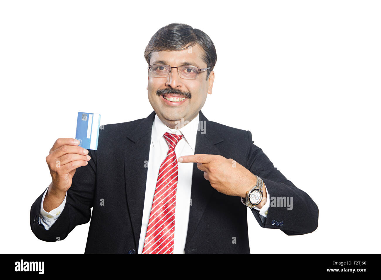 1 indian business man credit card showing finger pointing stock 1 indian business man credit card showing finger pointing reheart Images