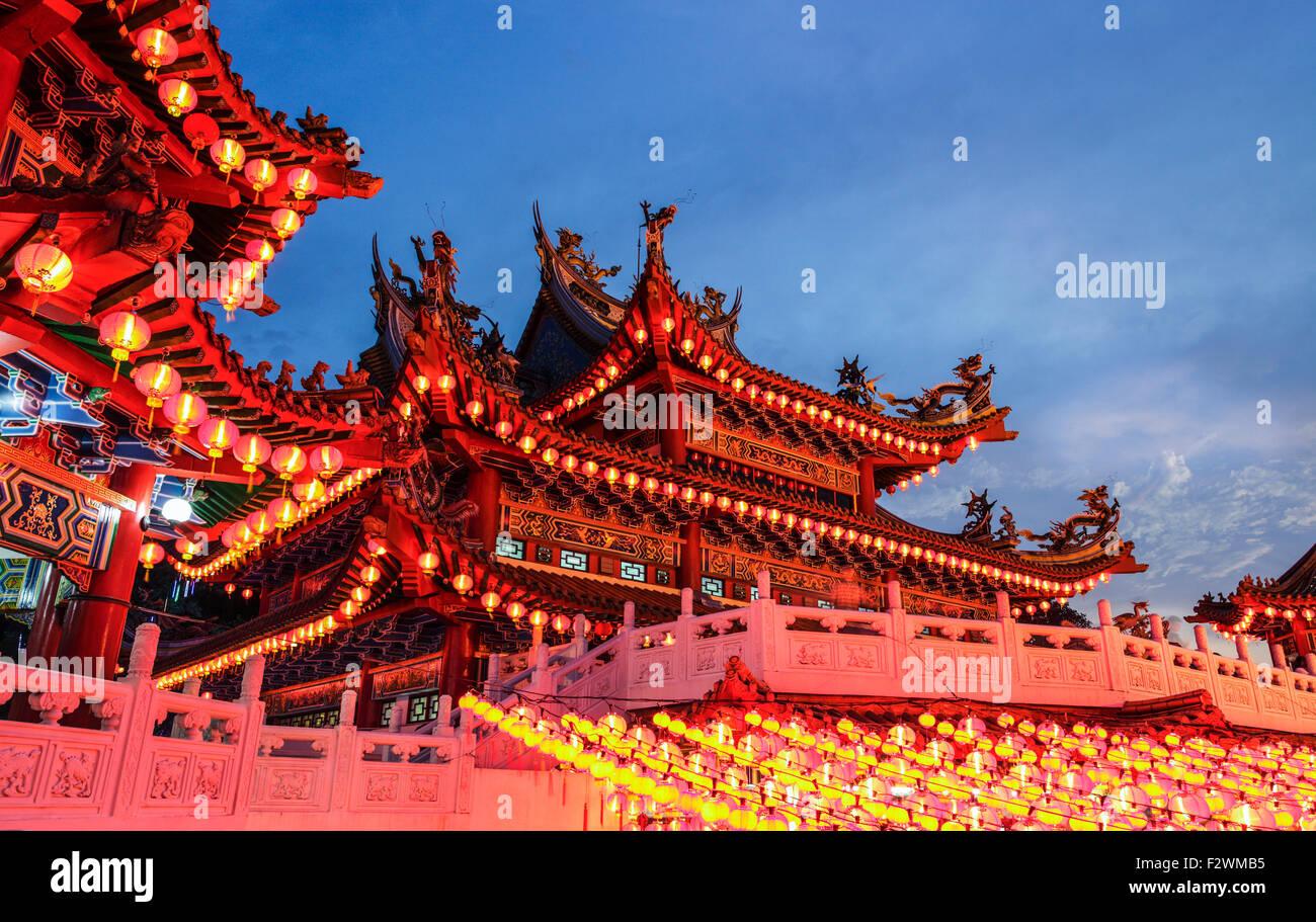 The lanterns of Thean Hou Temple, Kuala Lumpur. - Stock Image