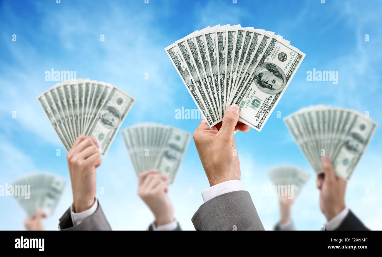 Crowd funding finance and investment - Stock Image