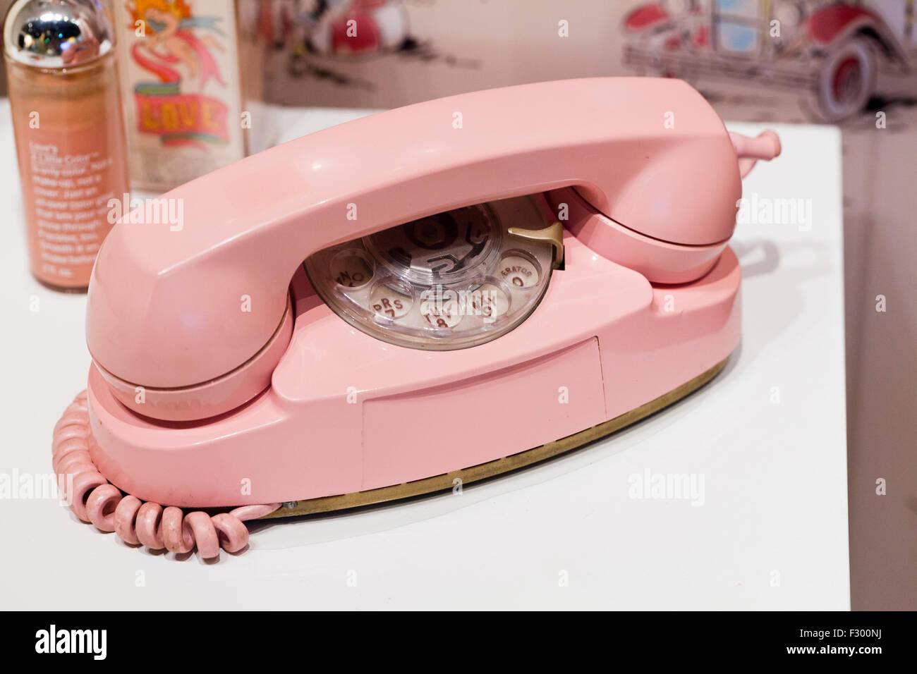 Princess phone, circa 1960s - USA - Stock Image