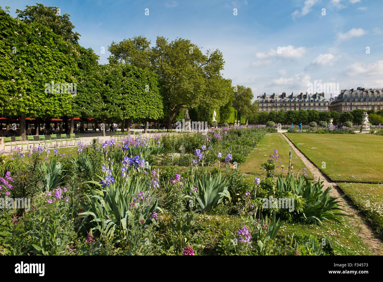 Jardin des Tuileries, Paris, France - Stock Image