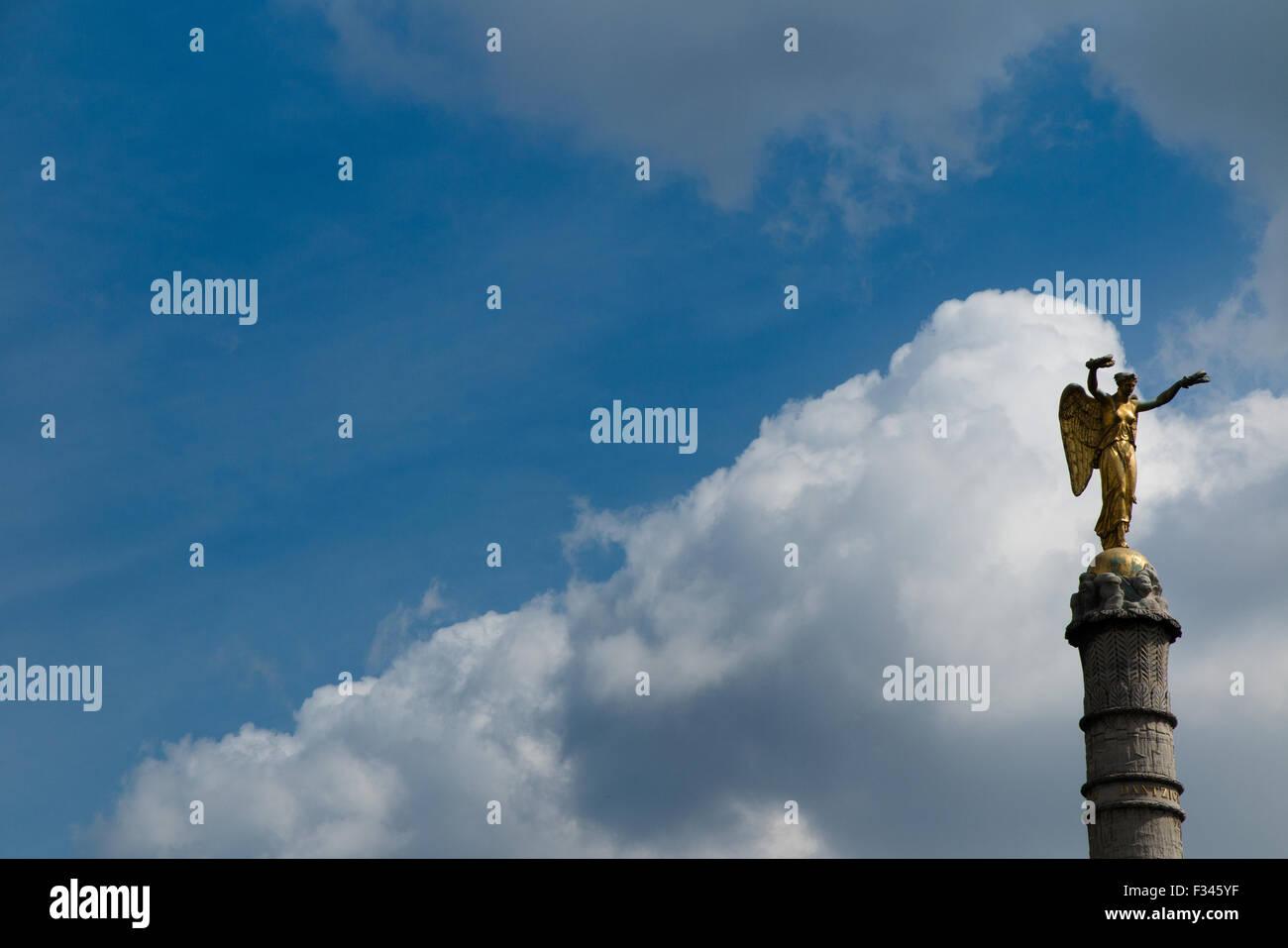 statue on column, Place de la Bastille, Paris, France - Stock Image