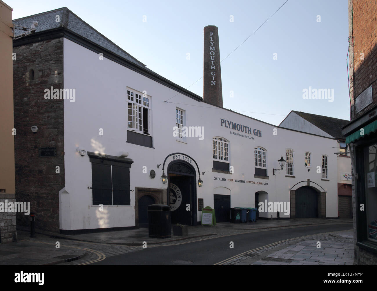 plymouth gin distillery in the barbican area of plymouth Stock Photo