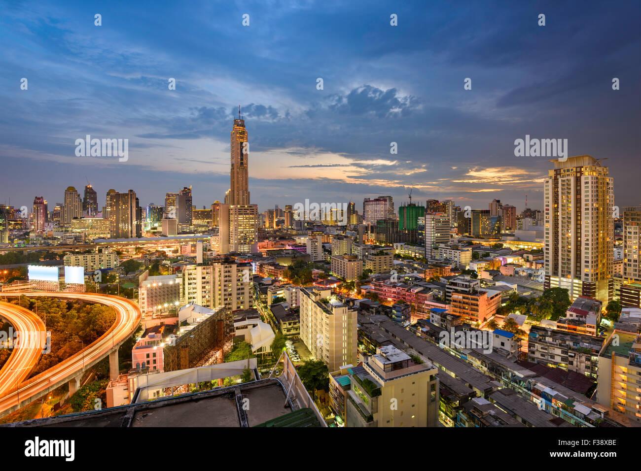 Bangkok, Thailand, city skyline. - Stock Image