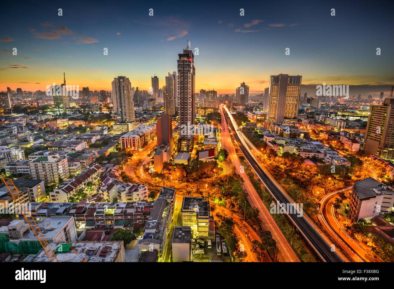 Bangkok, Thailand skyline at dawn. - Stock Image